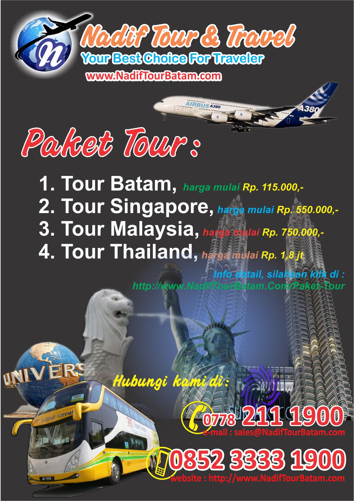 Search Results for: Paket Tour Singapore Malaysia Thailand