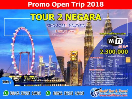 Open Trip Singapura Malaysia